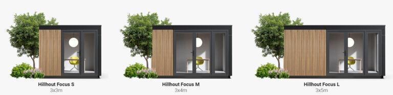 Hillhout tuinkantoor modellen.